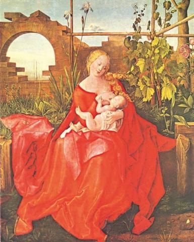 Альбрехт Дюрер. Мадонна с цветком ириса. 1505-1508