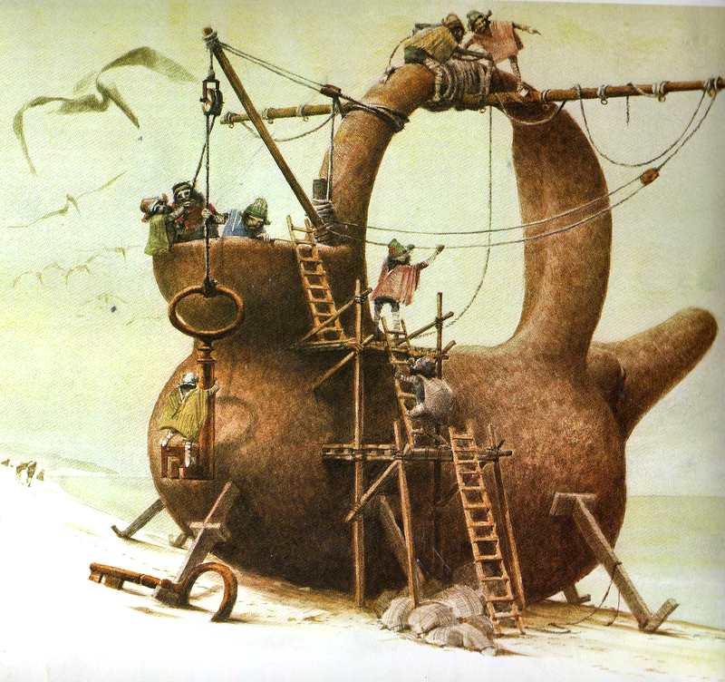 "Иллюстрация к книге ""The Voyage of the Poppykettle"""