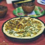 Открытый пирог с зеленью