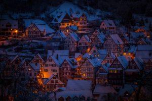 Город по снегом
