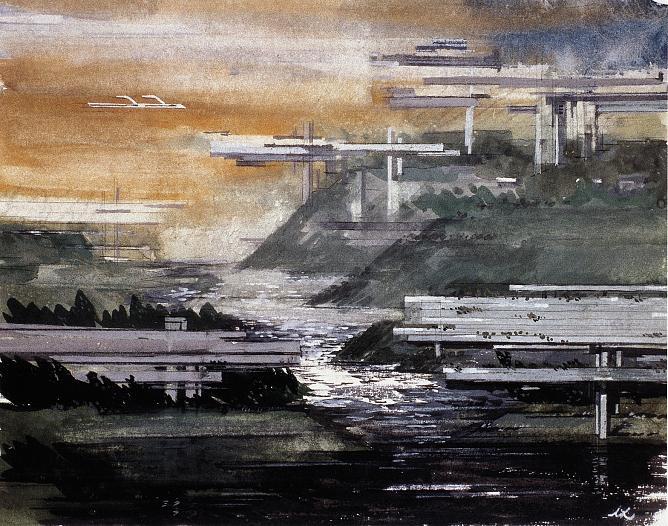 Лазарь Хидекель. Город будущего, 1927
